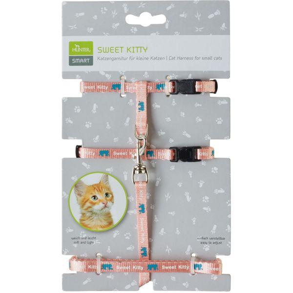 Cat harness & leash set Sweet Kitty