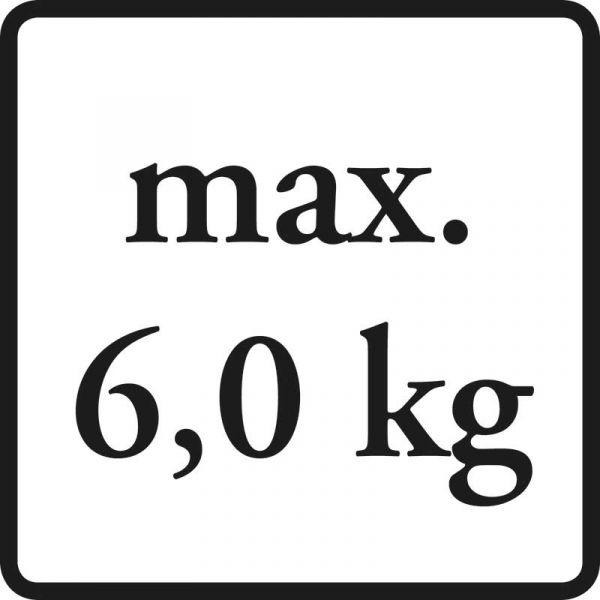 bis max. 6 kg belastbar